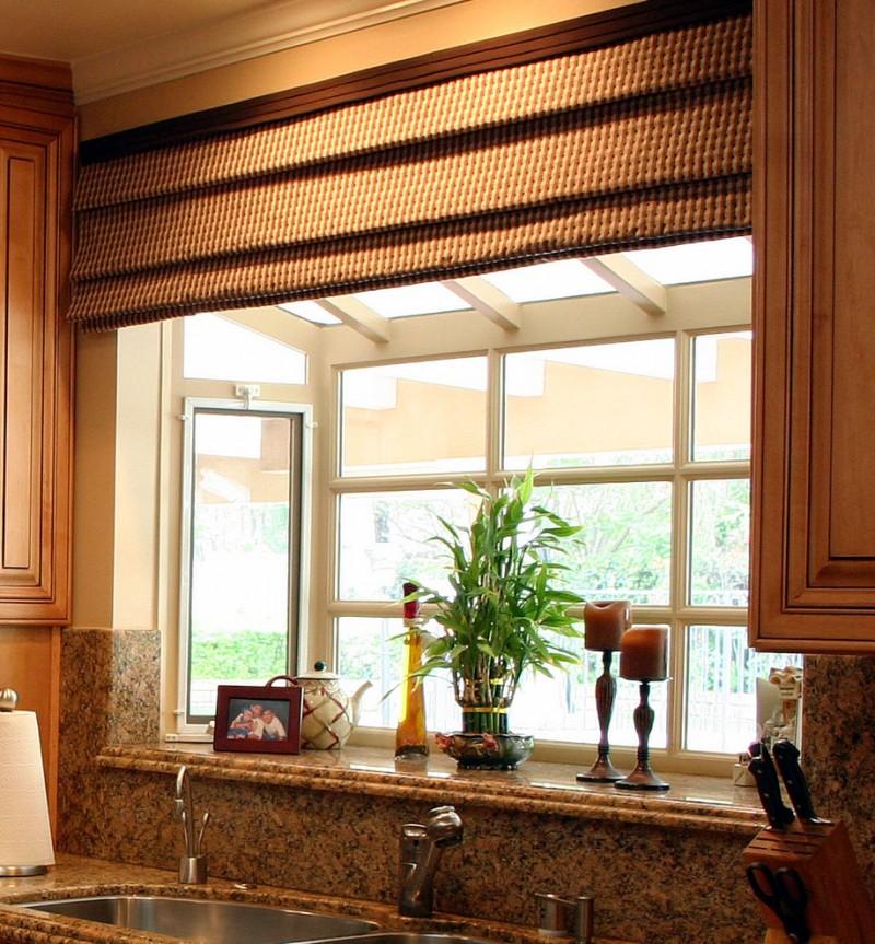 garden windows for kitchen brown cabinets granite backsplash undermount sink faucet blinds appliances traditional design