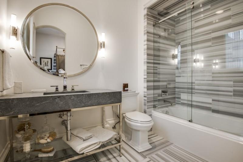 glass doors for bathtub mirror towel rack modern wall lamps toilet mediterranean bathroom
