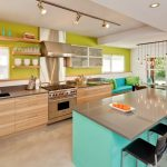Good Colors For Kitchens Open Cabinets Island Undermount Sink Light Fixtures Ceiling Lamps Stools Bench Stainlees Steel Appliances Quartz Countertops Contemporary Design