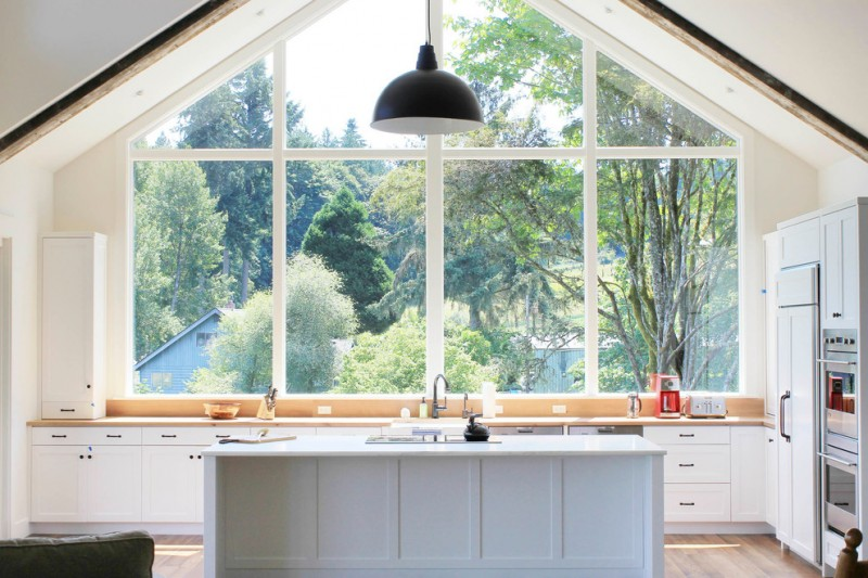 greenhouse windows for kitchen cabinets kitchen island drawers pendant light sink faucet farmhouse style