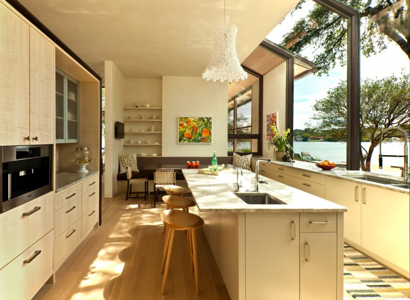 greenhouse windows for kitchen stools kitchen island shelves chairs bench flowers cabinet modern style