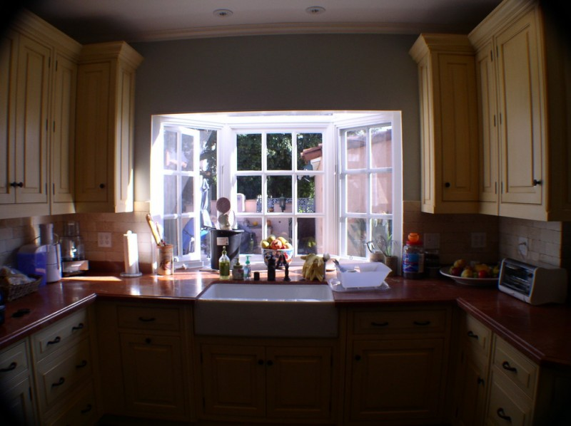 greenhouse windows for kitchen wall cabinets drawers faucet sink traditional style