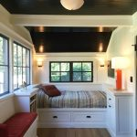 Guest Beds For Small Spaces Bench Shelf Books Windows Lamps Lighting Pillow Traditional Bedroom