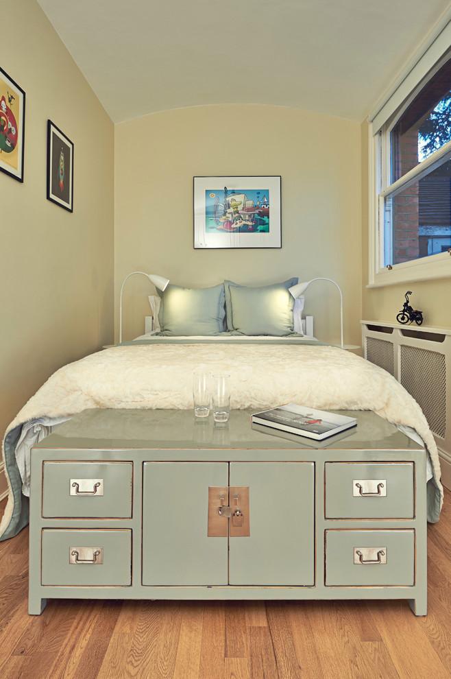 guest bed for small spaces under bed storage window lamps pillows paintings wood floor industrial bedroom