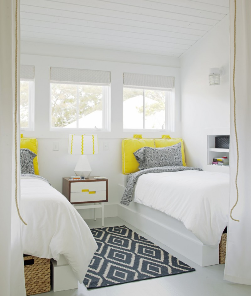 guest beds for small spaces windows pillows table lamp wall storage transitional bedroom