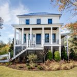 House Plans On Pilings Chanilly Lace Paint Home Iron Railings Tin Roof Black Glass Windows Wooden Door