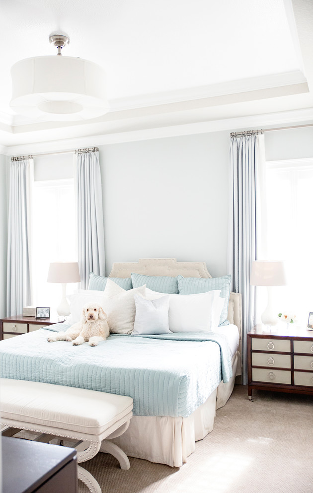 hudson park bedding chaise drawers storage bed lamps closet windows curtains sheets transitional design