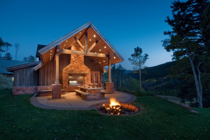 Spectacular In Ground Fire Pit And Seating Area Decohoms