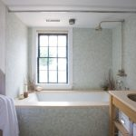 jacuzzi tub shower combo towel windows dried decorative items faucets beach style bathroom