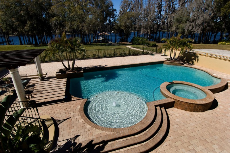 keystone gray tampa bay pool idea unique shape pool outdoor family area traditional tampa flooring