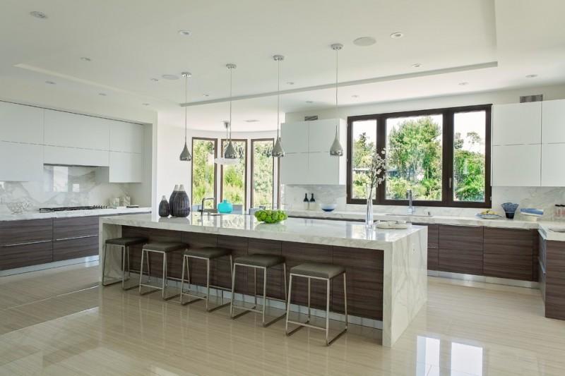 kitchen cabinet layout tool laminate cabinets edge countertops thermofoil waterfall backsplash calacatta gold marble slab countertop
