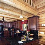 Kitchen Remodeling Nyc Dark Wood Cabinets Hardwood Floor Stools Granite Countertop Curtain Chandelier Lamps Window Rustic Style Room