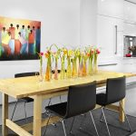 kitchen table sets ikea black chairs painting carpet cabinets flowers ceiling light modern kitchen