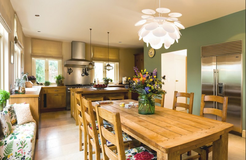 kitchen table sets ikea chairs bench pillows windows fridge flowers stools cabinets faucet lamps transitional room