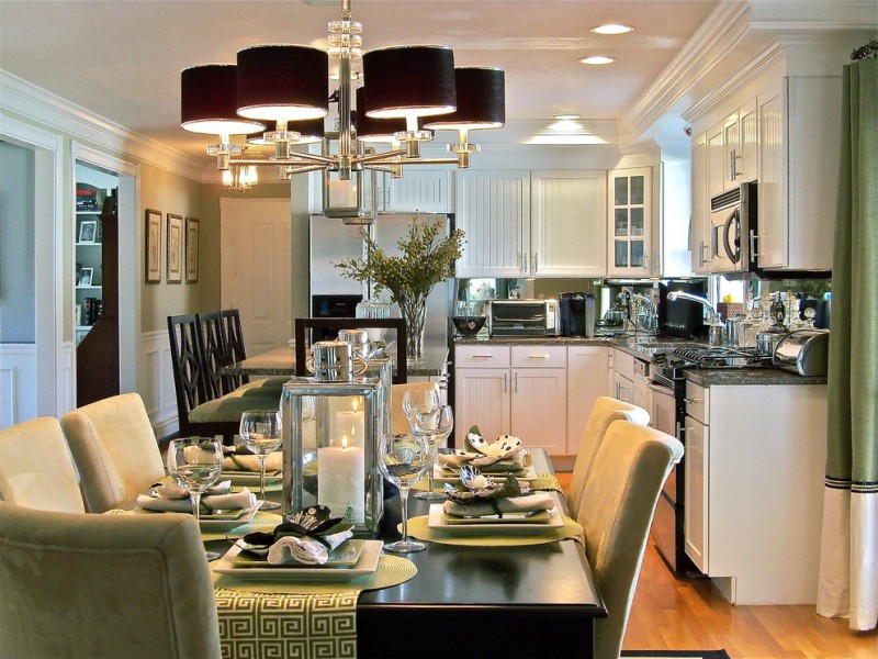 kitchen table sets ikea cloth chairs beautiful floor wall cabinets chandelier stove sink faucet traditional style