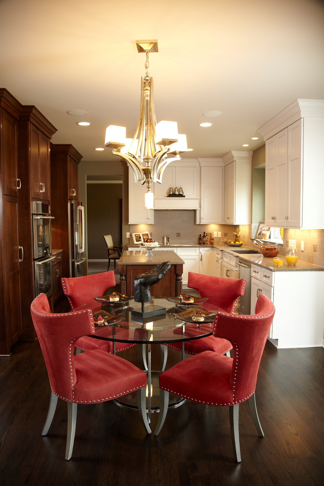 kitchen table sets ikea hardwood floor chairs cabinets chandelier faucet sink ceiling lights traditional style room