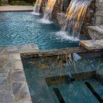 Lap Pool Ideas Large Tampa Bay Pool Designs Fountain Backyard Pool Concrete Pavers