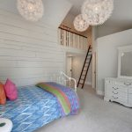 Loft Beds For Teenage Girls White Bedroom Markors Pendant Lamp Cotton Vertical Mirror White Cabinets