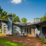 Luxury Ranch House Plans Glass Trees Doors Windows Soil Chairs Table Traditional Home Exterior'