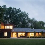 Luxury Ranch House Plans Grass Trees Impressive Lighting Roof Walls Windows Modern Home Exterior