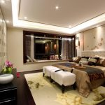 Modern Chinese Style Asian Themed Bedding Oriental Wall Deco Window Seat White Head Board White Bench