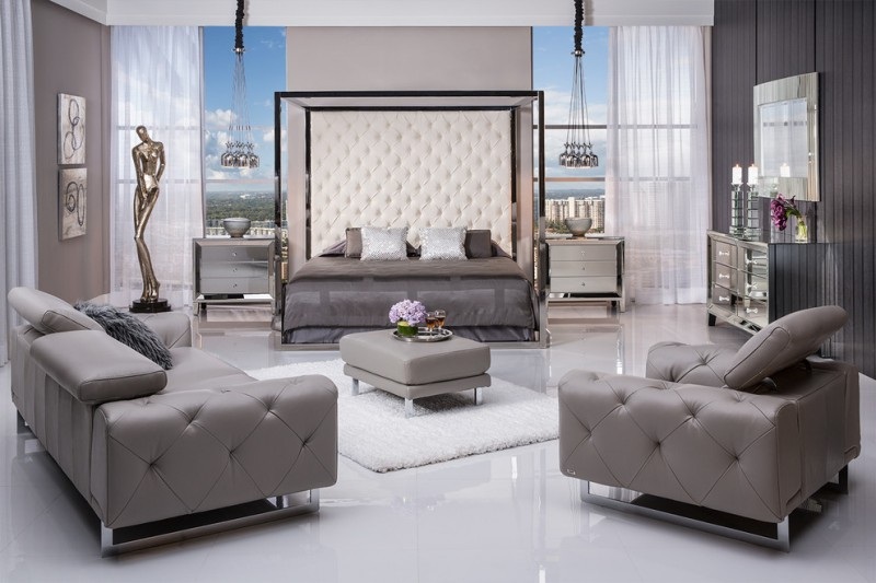 modern king size bedroom sets cups ceiling lamp nilo graphite leather sofa sensibility king canopy bed amia mirrored cabinet