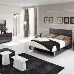 Modern King Size Bedroom Sets Leatherette Stitched Headboard Design Bedroom Set Includes King Bed 2 Nightstands Dresser And Mirror