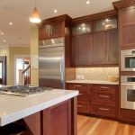 Natural Cherry Kitchen Cabinets Cherry Kitchen Electric Single Wall Oven Smeg Classic Gas Cooktop Built In Refrigerator Space