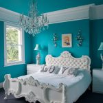 Ornate Bedroom Furniture Victorian Double Bed Chandelier Night Lamps Cabinet Wall Decoration Carpet Eclectic Style