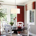 Patio Door Curtain Ideas Kitchen Nook Design Ideas Dark Oak Four Hands Magnolia Round Dining Table Brushed Nikel Light Pendant