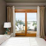 Patio Door Curtain Ideas Venetian Glass Table Lamp Drape Cream Curtain Beach Bedroom Cream Fluffy Rug
