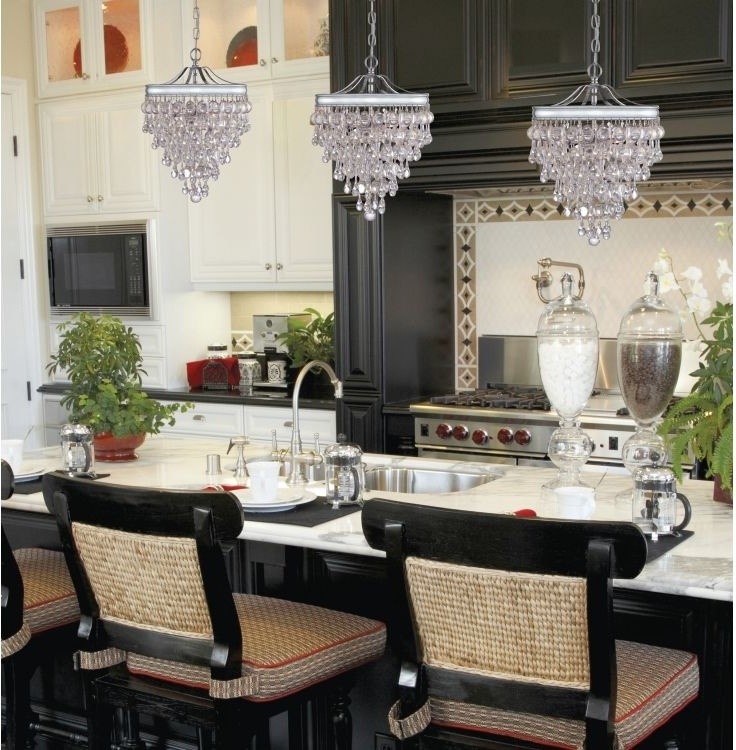 pendant lights for kitchens calypso glass drop crystal pendant chandelier cushioned traditional barstools