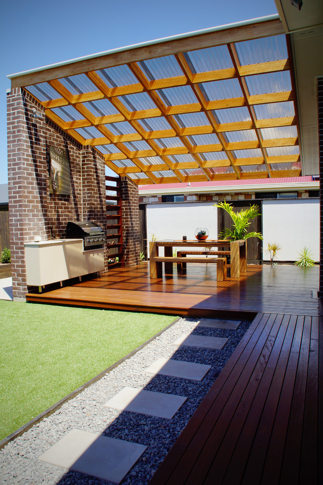 Polycarbonate Roof Panels Clear Covered Pergola Skillion Stack Bond
