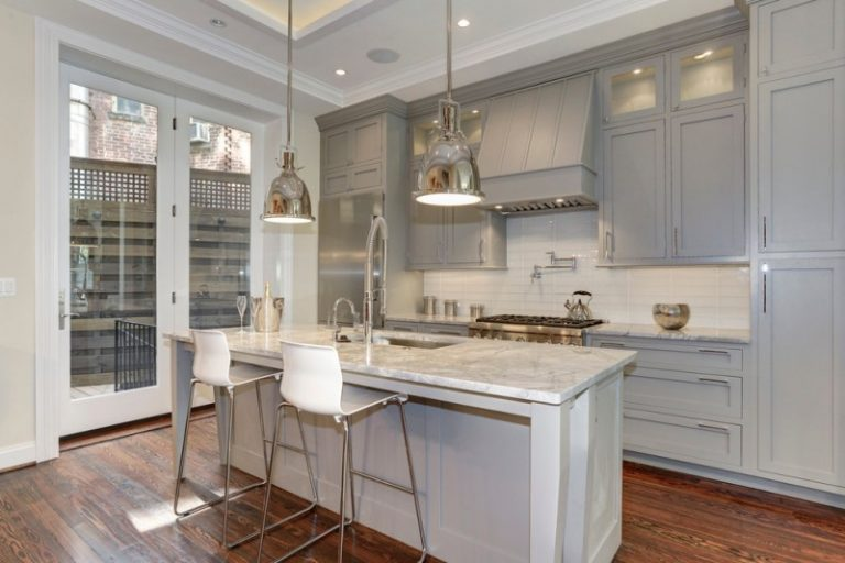 grey kitchen cabinets with white countertops popular paint colors for kitchens you can choose decohoms 16102