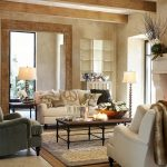 Pottery Barn White Sofa Gray Sofa Coffee Table Layered Rugs Table Lamp Standing Lamp Cream Wall Pillow Throws