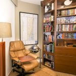 Reading Nook Furniture Custom Furniture Faux Wood Floor Tile Home Office Library Single Couch Bookself