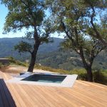 Rectangle Built In Tub On Wooden Deck