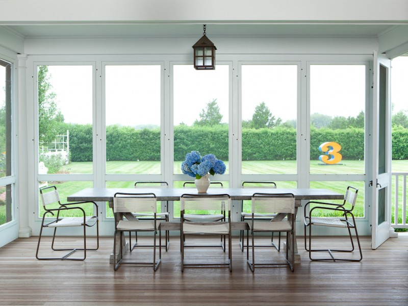 screen porch designs door glass flowers chairs table transitional porch