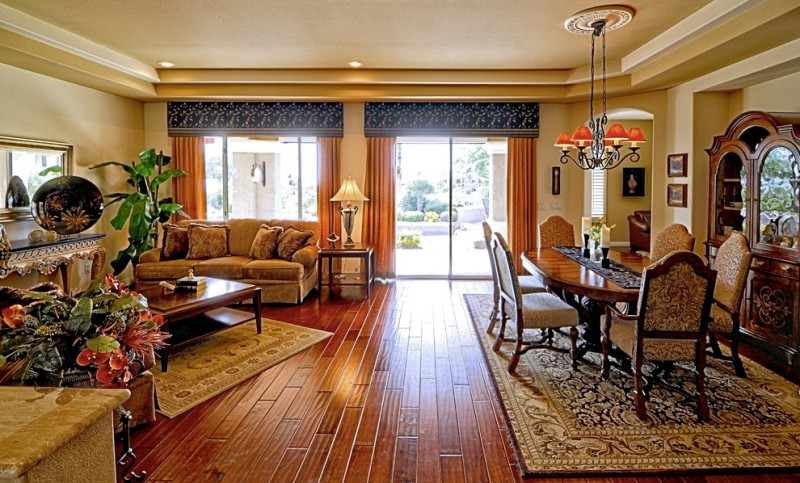 sliding glass door drapes traditional living room transitional dining room rustic style patterned rug
