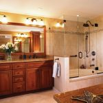 small bathtubs with shower cabinets glass door ceiling lights lamps faucets traditional style room