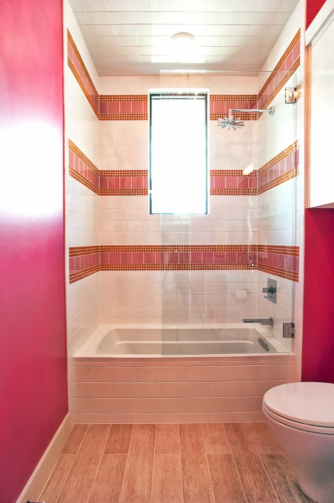 small bathtubs with shower window lamp pink tiles toilet transitional bathroom