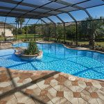 Small Curved Tampa Bay Pool Black Fence Unique Tampa Floor Transparent Ceiling Pool Chairs