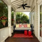 Small Porch Swing Porch Ceiling Fans Hanging Swings Bed Swing Porch Wood Floorclassic Bed Rustic Vintage Porch Red Cream Cuhions