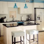 Stand Mixer Blue Glass Pendant Chandelier Single Handle Pull Down Kitchen Ideas For Small Kitchens On A Budget Marble Floor Marble Countertop