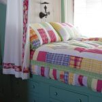 Storage Bed Drawers Pillows Curtain Colourful Item Lamp Beach Style Kids Room