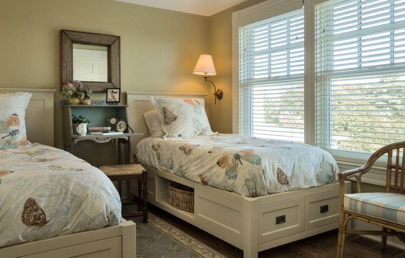 storage beds big window chair carpet shelf drawers stool mirror lamp traditional bedroom