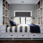 storage beds nyc dark floor drawers lamps window shelves pillows transitional kids room interior