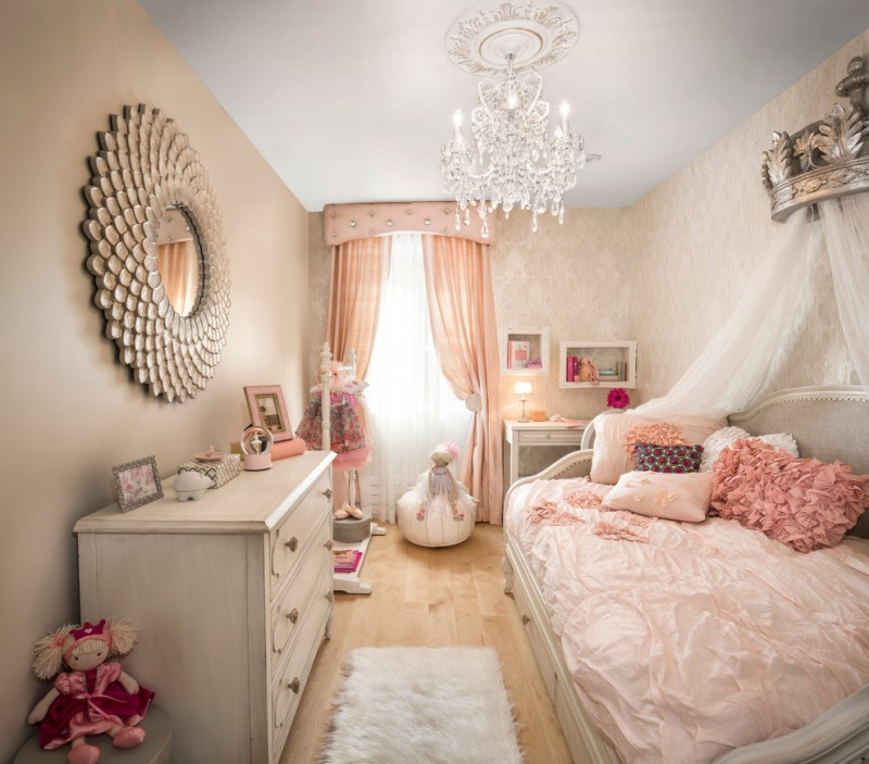 storage bed nyc window carpet pillows doll table lamp mirror curtains chandelier transitional kids room new york
