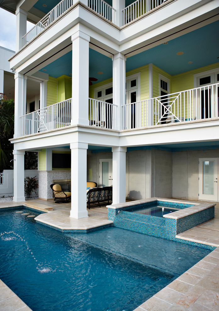 trendy tampa bay pool rectangular pool comfortable pool couch second floor house