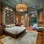 Two Tone Walls Japanese Bedroom Asian Themed Bedding Art Over Bed Blue Ceiling Traditional Storage Soft Modern Couch